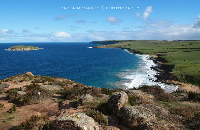 Looking towards Petrel Cove from The Bluff Summit, Victor Harbor (©paula mcmanus)