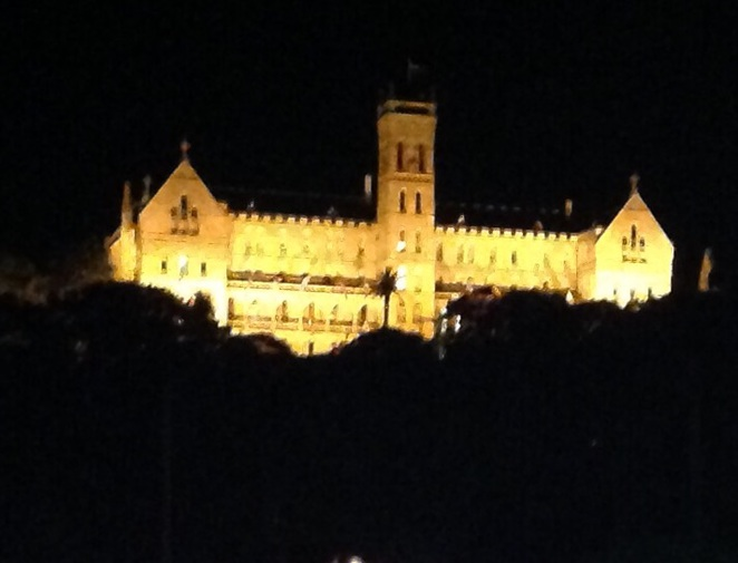 Manly St Patricks college,night lights