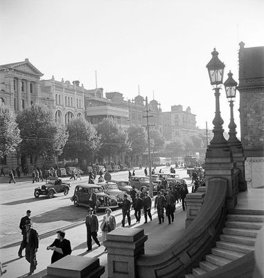 North Terrace in Adelaide by Max Dupain. This image is from Wikimedia Commons.
