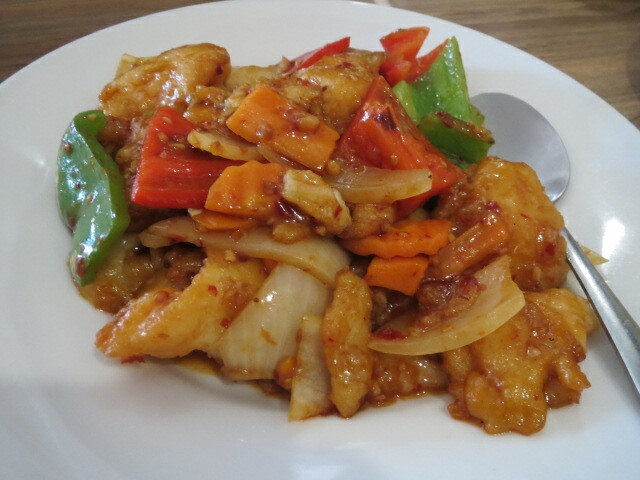 Mei Xin Chinese Cuisine, Stir-fried Fish Fillet & Twin Pepper with Chilli Sauce, Adelaide