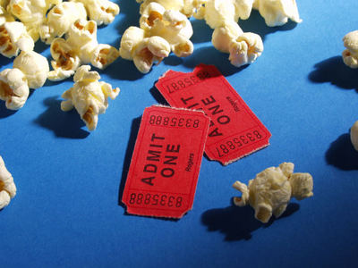 movies, cinema, popcorn, movie tickets