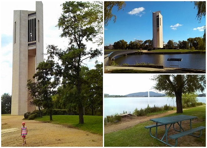 national carillon, picnic spots, canberra, ACT, lake burley griffin, carillon, kings park, near boundless playground,