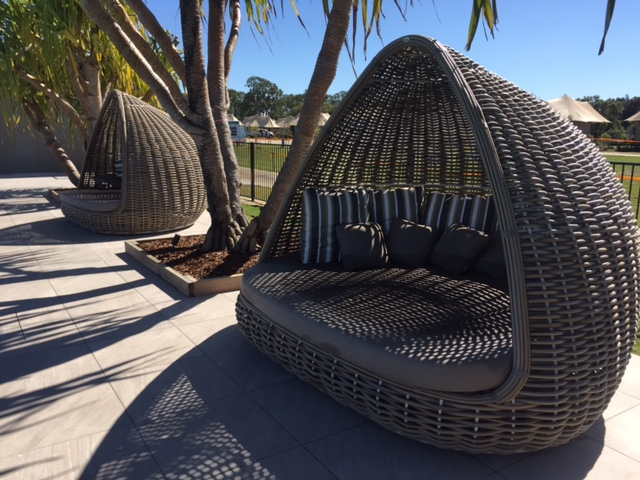 Rivershore Resort, Maroochy River, Camping, Caravanning, Glamping, Family friendly, pets allowed outside school holidays, perfect holiday, fully-equipped, three camp kitchens, fully licensed bar/restaurant, large heated pool complete with two waterslides, toddlers' pool, large children's playground, private pontoon/jetty and boat ramp, large inflatable jumping cushion, Mini Golf, SUP/Kayak hire, Recreational equipment to hire (i.e. bicycles), Conference/Meeting Facilities and even free Wi-Fi