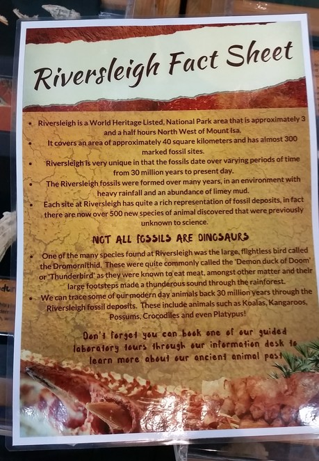 Riversleigh Fossil Centre, The Outback Isa, Mount Isa, museum, fossils