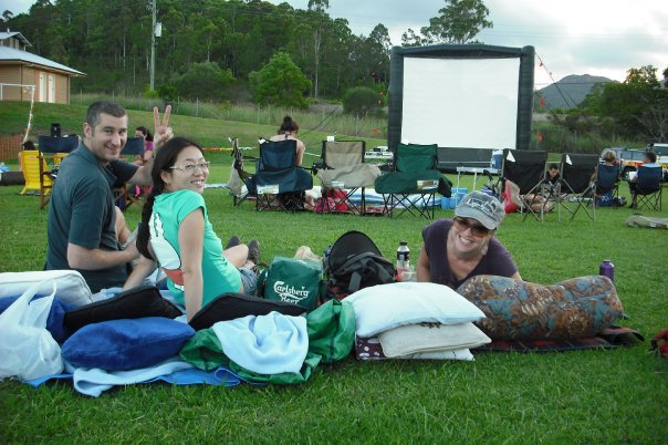 STARRY Nights, outdoor movie, Sunshine Coast, night out, family night