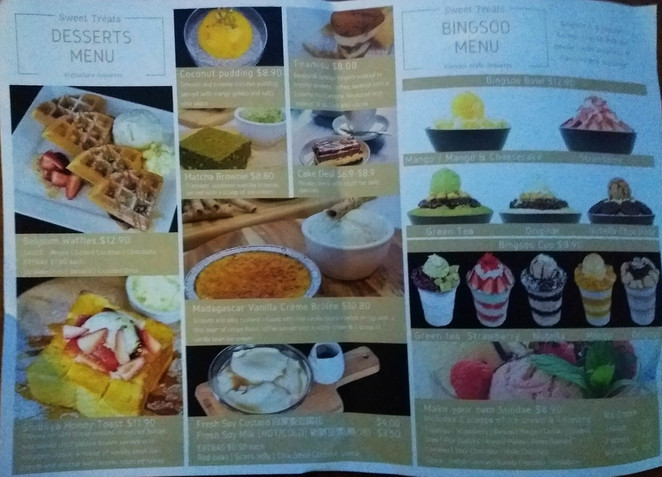 sweet treats dessert menu