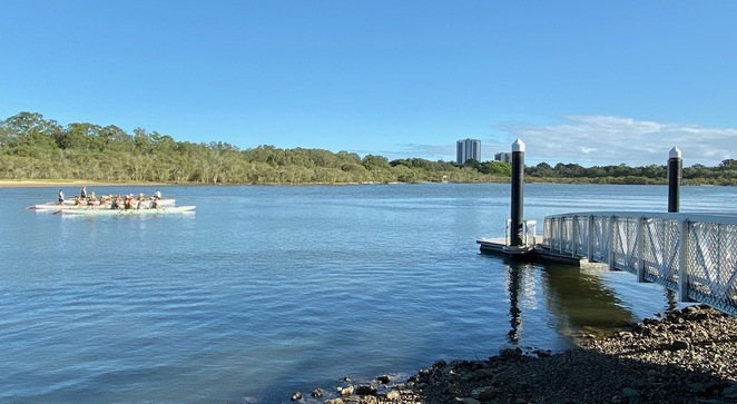 The stretch of Currumbin Creek in front of Winders Park is popular for water sports