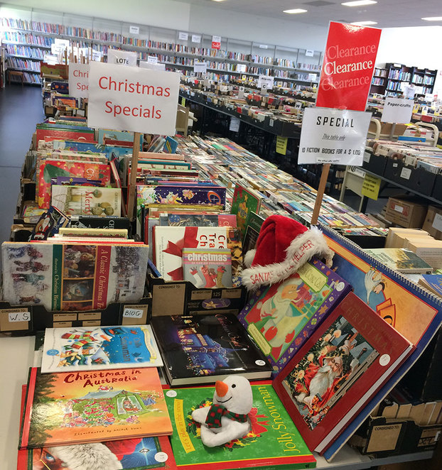 Book Bazaar Extended Hours Half Price Book Sale children's Christmas books