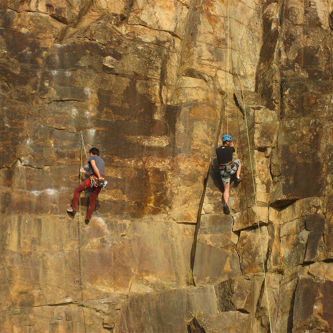 Climbers at the Kangaroo Point Cliffs
