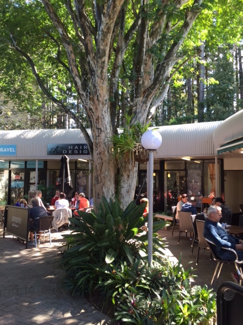 Cafe Buderim, escape the hustle and bustle, all-day breakfast, lunch, snack in-between, gift shop, coffee, loose-leaf tea, milkshakes, outdoor dining in a courtyard, indoor dining in gift shop, vegetarian, vegan, gluten free, dairy free, homemade cakes, scones, quiches, catering