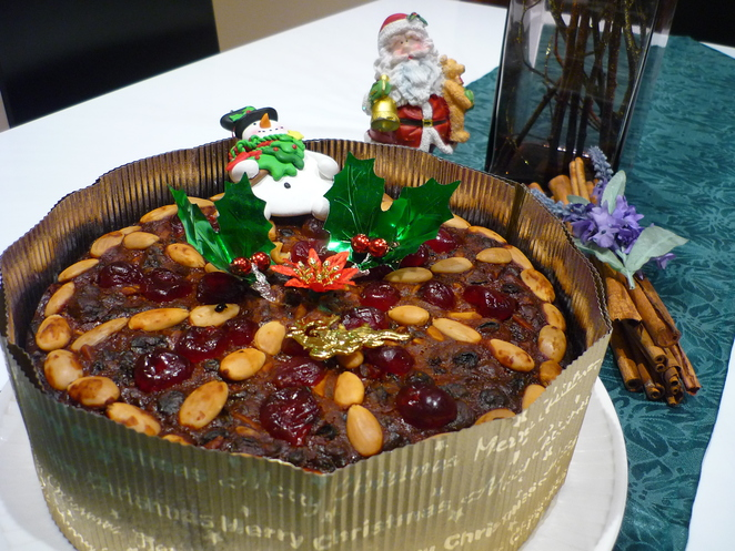 Christmas cake, fruit cake
