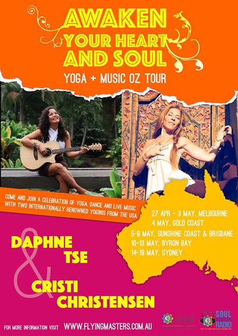 Daphne Tse, Cristi Christensen, Yoga Music Oz Tour, Yoga Workshops