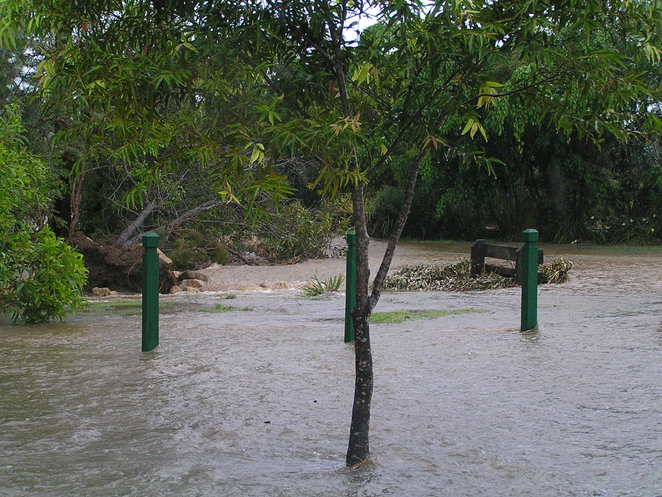 flood water suburb brisbane