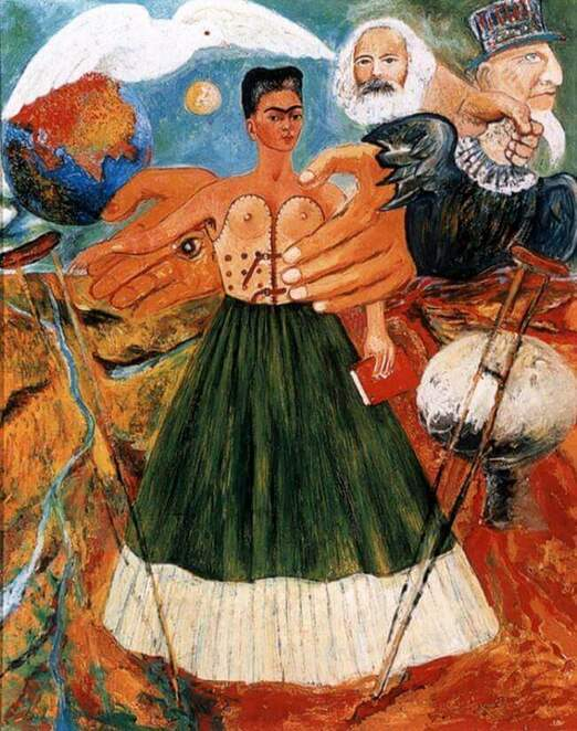 frida kahlo, art, paintings, fine art, famous artists, marxist art, mexican artists, female artists, women in the arts