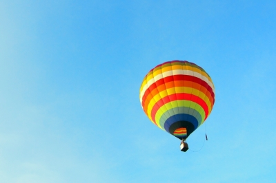 hot air balloon ride for Valentine's Day