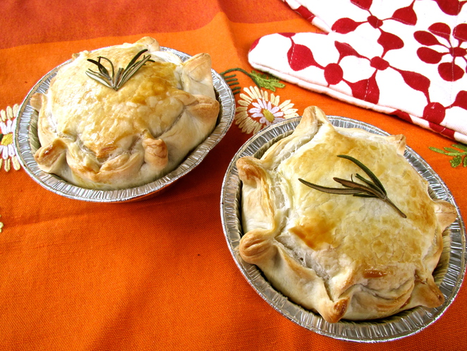 just Braised Beef and onion pies after 20 minutes in the oven.