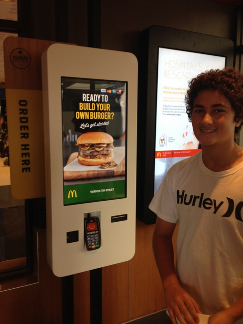 McDonald's, Create Your Taste, Create Your Burger, Touch Screen Order