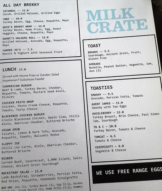 milk crate cafe, canberra, ACT, coffee, cafes, best coffee, toasties, takeaway coffee,