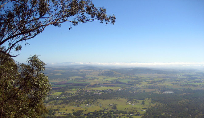 The view from the summit of Mt Edwards
