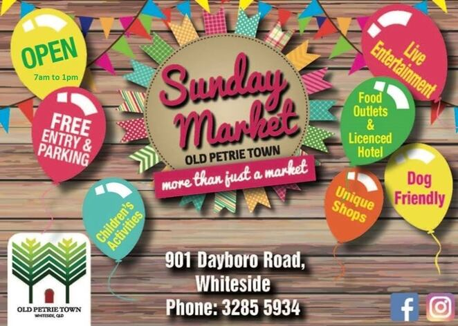 Image courtesy of Old Petrie Town Sunday Markets