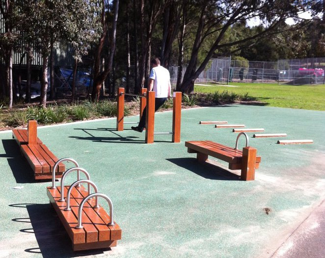 outdoor exercise fitness adult gym sydney park