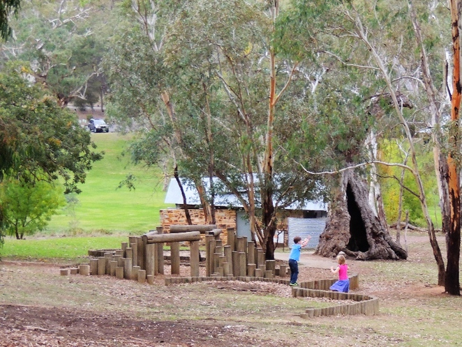 playground in, a playground, playgrounds, park in adelaide, adventure playground, play equipment, belair national park, walking trails, stepping stones