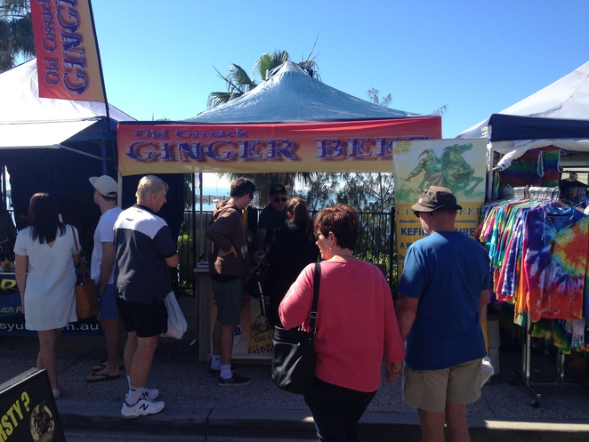 homemade ginjer ale at the Redcliffe Markets