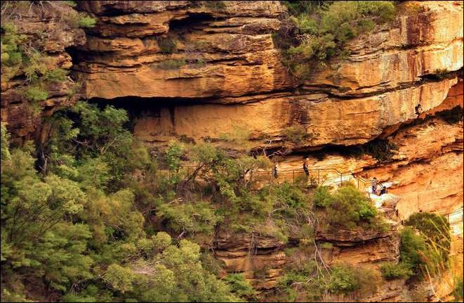 The National Pass at Wentworth Falls in the Blue Mountains