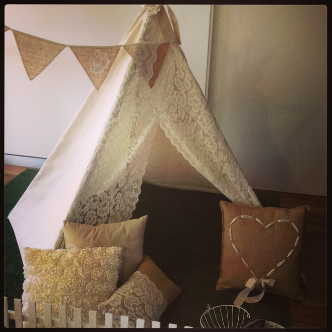 Teepee at Pop Events from Banana J Creations