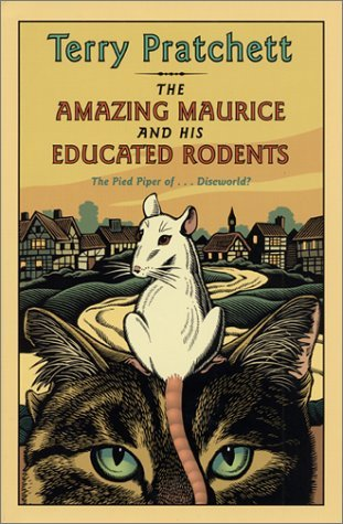 the amazing maurice and his educated rodents, terry pratchett, Sir Terry Pratchett, books for cat lovers, books about cats