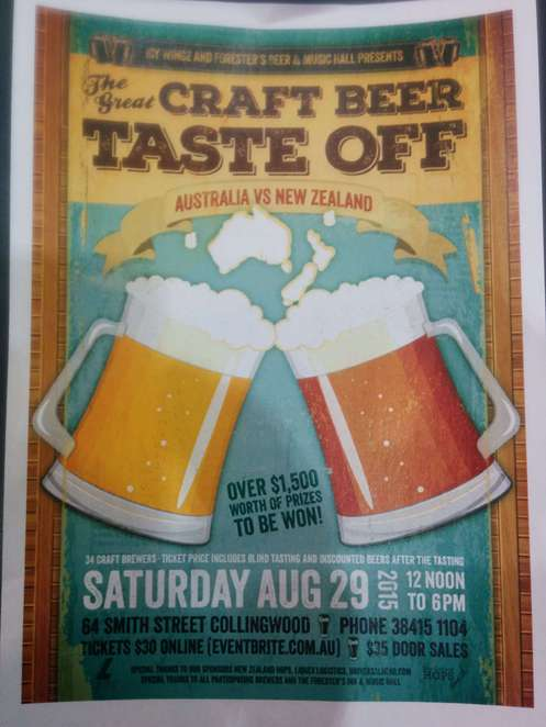 The great craft beer taste off australia vs new zealand for Craft beer vs microbrew