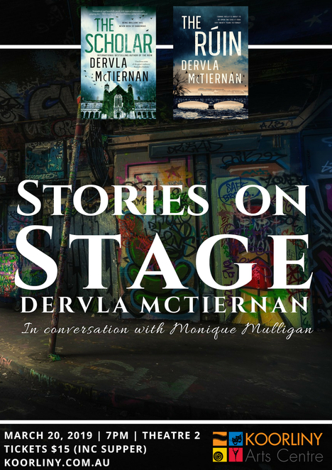 theatre, author, Stories on Stage, Dervla McTiernan