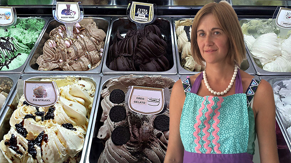 Tubs Gourmet Gelato, Guildford, Minna Wallace, Fig Strudel, Ice Cream, Waffles