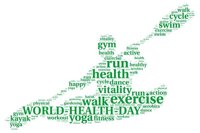 world health day 7 april activities exercise
