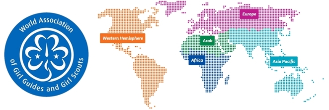 Girl Guides world map