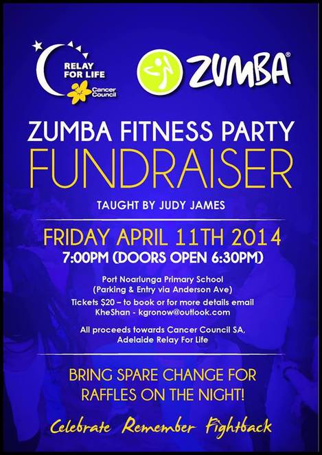 Zumba Fitness Party, Cancer Council Fundraising, Relay for Life