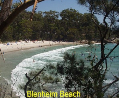 A crescent beach protected by cliffs