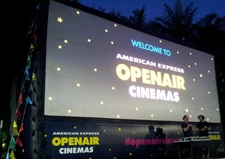 American Express Openair cinema, cinema, screen