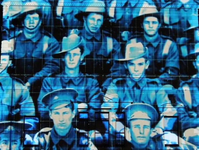 anzac day, anzac day projections, anzac day projections in sa, illuminart, world war, world war 1, south australia, anzac day