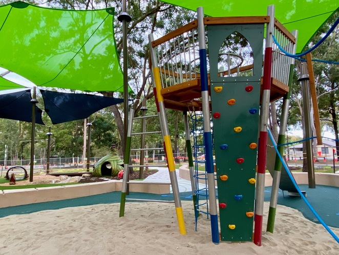 The playground centres around a huge crows nest