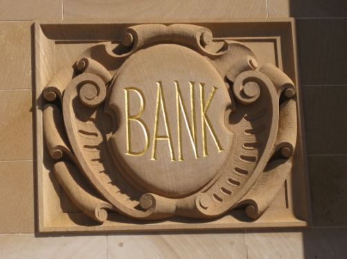 Bank Chambers plaque frieze