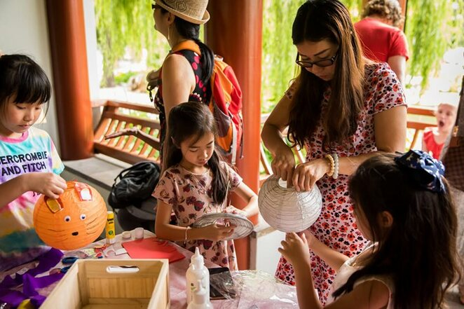 Chinese Garden of Friendship, Lunar New Year, kids craft
