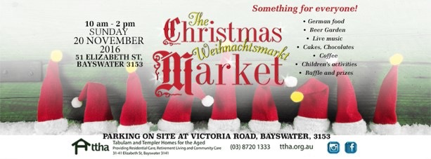 Christmas Market - Tabulum and Templer Homes for the Aged