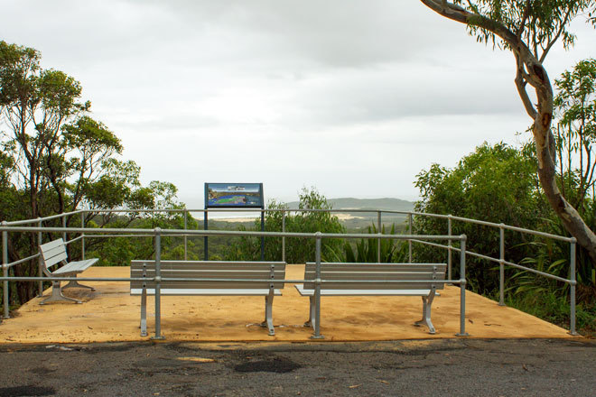 Gan Gan Hill lower lookout