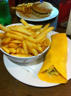 Large classic wrap meal from Nando's