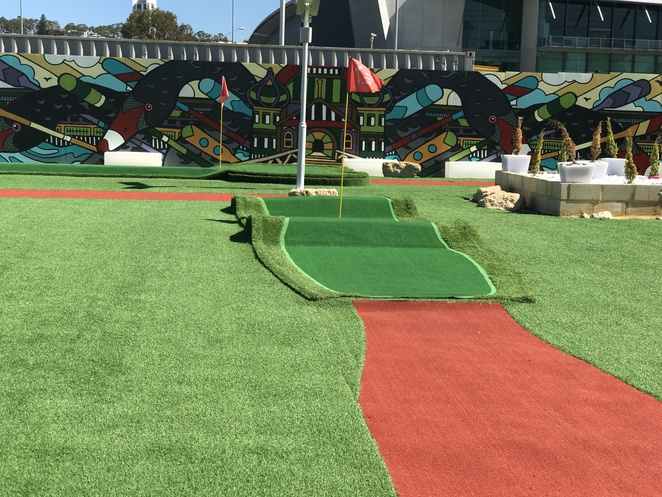 mini golf, elizabeth quay adventure golf, crazy golf in perth, new mini golf in perth, things to do in the school holidays, things to do in perth, elizabeth quay golf, things to do at elizabeth quay