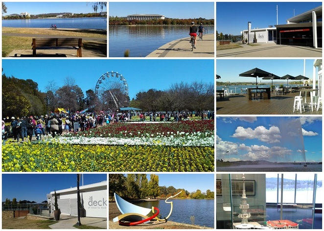 national capital exhibition, floriade, red explorer bus, hop on hop off, tourist bus, commonwealth park, canberra,
