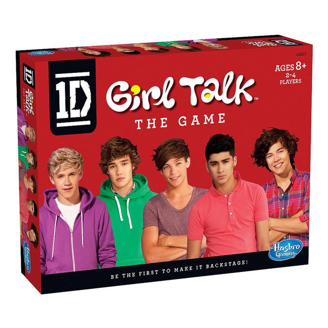 One Direction, Direction, One, 1D, Directioner, Hasbro, Girl Talk, Board Game, Game, Games, Board, Bored, Boys, Harry Styles, Niall Horan, Liam Payne, Louis Tomlinson, Zayn Malik, What Makes You Beautiful, Dare, Truth, Trivia, Action, Card, Cards, Card Game, Bingo, Merchandise, Merch, Limo, Concert, Backstage, VIP