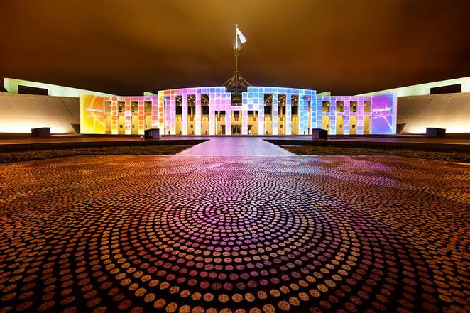 parliament house, enlighten, canberra, 2017, top things to see, ACT,