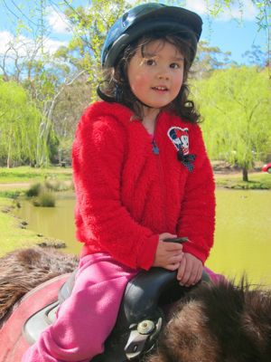 Pony Ride at Megalong Valley Heritage Farm, Blue Mountains